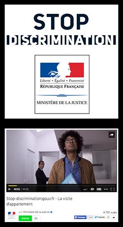 STOP-DISCRIMINATION.GOUV Publicité réalisée par Yohan UNGAR avec Sylvain Charbonneau et Frédéric Deleersnyder