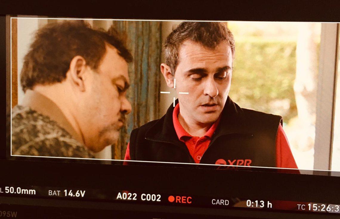 tournage onset xavierdurringer Didierbourdon Cinéma acteur